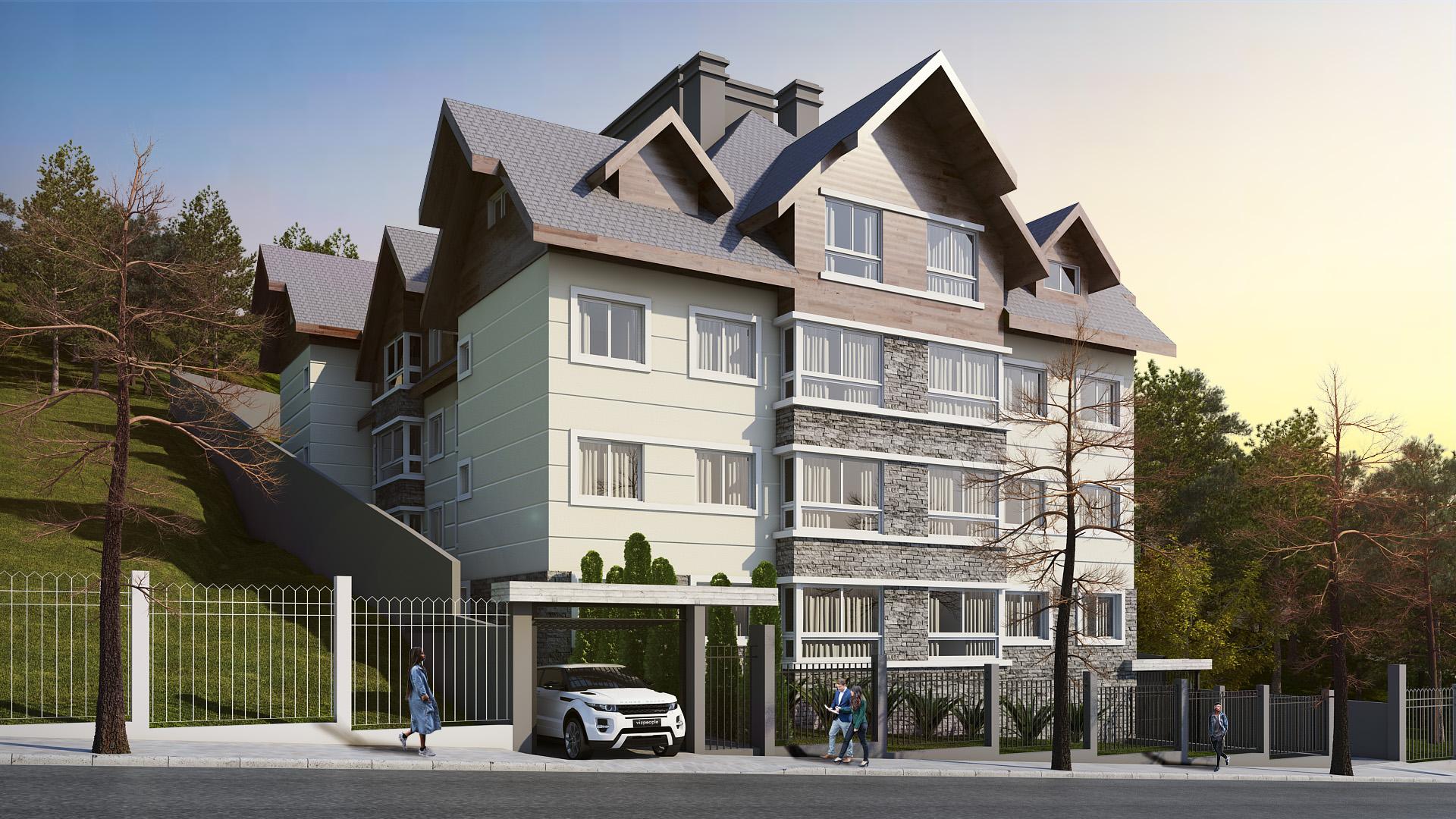 Descubra o charme dos apartamentos com fachadas coloniais